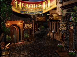 Heroes of Might and Magic II - главное меню