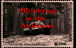 Blitzkrieg Battle At The Ardennes