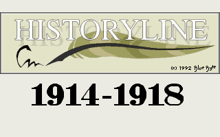 History Lines 1914 To 1918