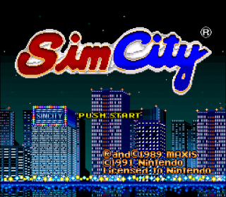 Super Nintendo - Sim City