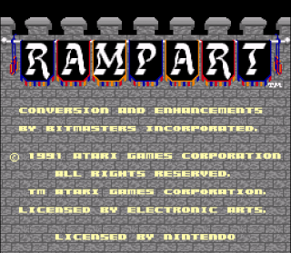 Super Nintendo - Rampart
