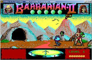 DOS Barbarian II Dungeons Of Drax