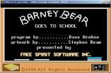 Barney Bear Goes To School