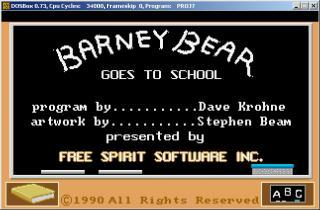 DOS Barney Bear Goes To School