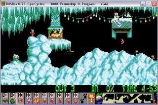DOS Lemmings Xmas Edition