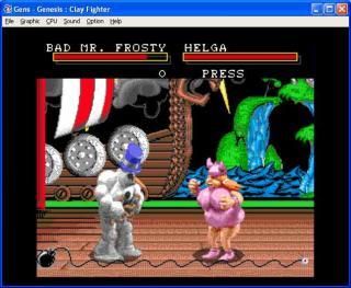 Sega Genesis Clay Fighter