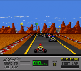 Super Nintendo Al Unser Jr&#39s Road to the Top