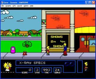 Sega Genesis The Simpsons: Bart vs Space Mutants