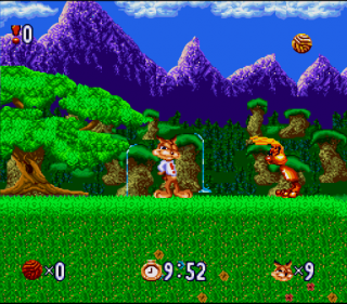 Super Nintendo Bubsy in Claws Encounters of the Furred Kind