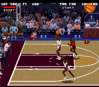 Super Nintendo College Slam Basketball