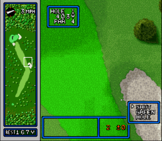 Super Nintendo HAL&#39s Hole in One Golf