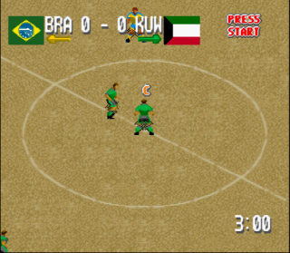 Super Nintendo Head-On Soccer