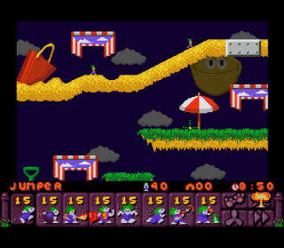 Super Nintendo Lemmings 2 - The Tribes