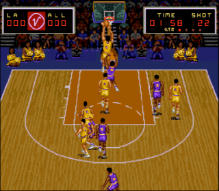 Super Nintendo Magic Johnson&#39s Super Slam Dunk