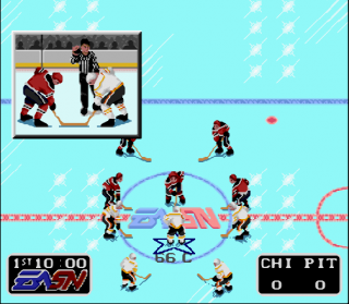 Super Nintendo NHLPA Hockey 93