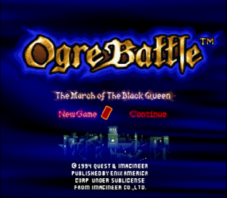 Super Nintendo Ogre Battle - The March of the Black Queen