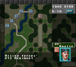 Super Nintendo Operation Europe - Path to Victory 1939-45