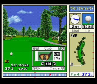 Super Nintendo Pebble Beach Golf Links