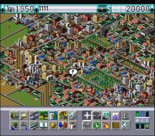 Super Nintendo Sim City 2000