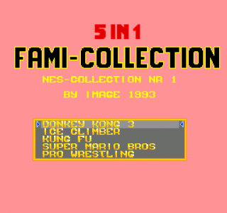 Turbografx 5-in-1 Fami Collection - NES Collection Nr 1