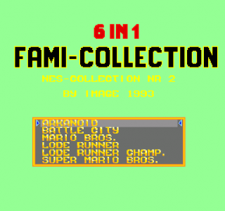 Turbografx 6-in-1 Fami Collection - NES Collection Nr 2