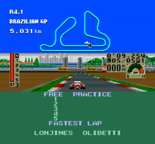 Turbografx F1 Triple Battle