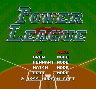 Turbografx Power League