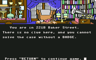 Commodore 64 221B Baker Street
