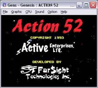 Sega Genesis Action 52-in-1