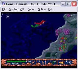 Sega Genesis Ariel-Disneys The Little Mermaid