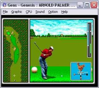 Sega Genesis Arnold Palmer Tournament Golf