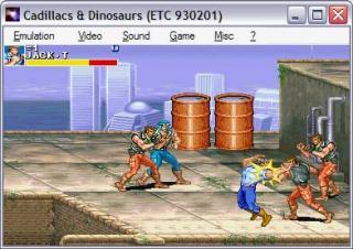 Capcom CPS1 Cadillacs and Dinosaurs