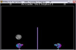 DOS Arcade volleyball
