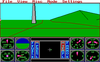 DOS  3-D Helicopter Simulator
